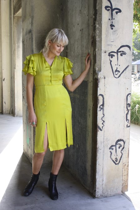 HKM Bathsheba Dress - Chartreuse