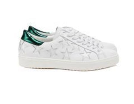 Department of Finery Stella Sneaker - White/Emerald