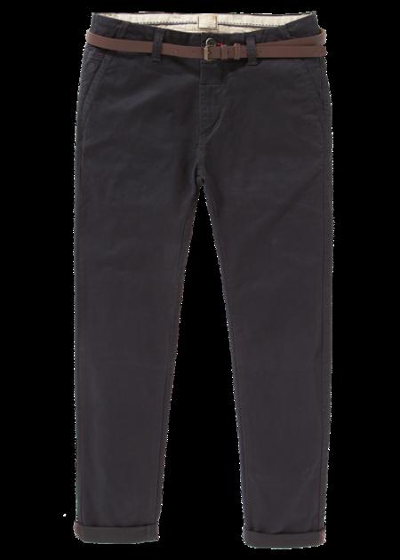 Dstrezzed Belt Stretch Twill Chino Pants - Dark Navy