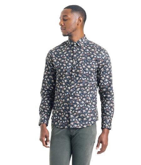 Good Man Brand Long Sleeve Floral Button Down - Indigo
