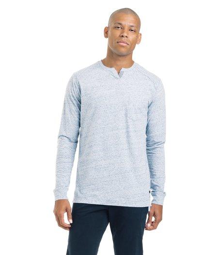 Good Man Brand Long Sleeve Athletic Crew - Blue Heather