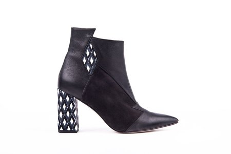 Jessica Bédard Shoes The Axel Ankle Boot - Drak Grey/Black