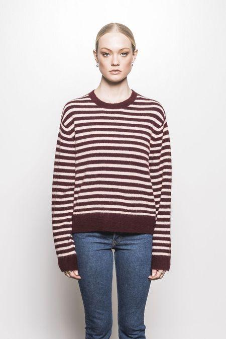 Line Knitwear Sonia Line Crew Neck - Merlot Kiss