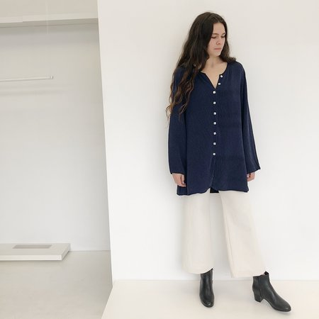 Vintage Johan Textured Tunic - Navy