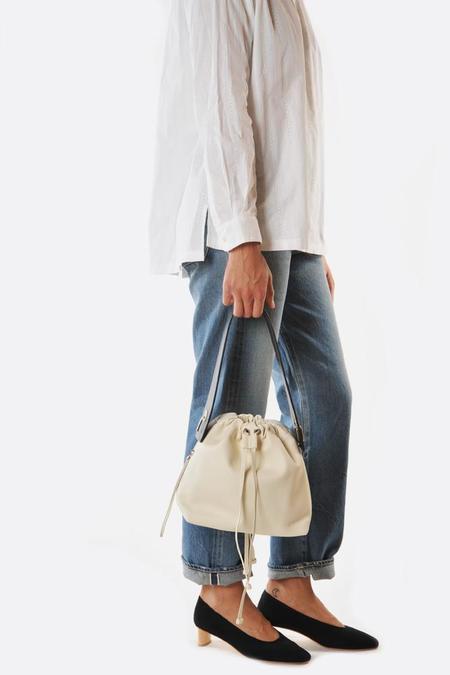 Bonastre Medium Lune Bag -  Ivory/Cream