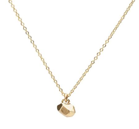 Angela Monaco Tiny Cast Crystal Necklace - Gold