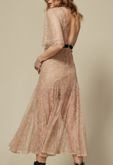 Goldie London Fairview Dress - Nude
