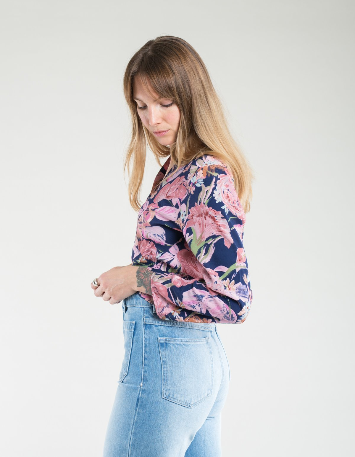 67ca0a18aa877 Rollas Delilah Rose Blouse - Navy