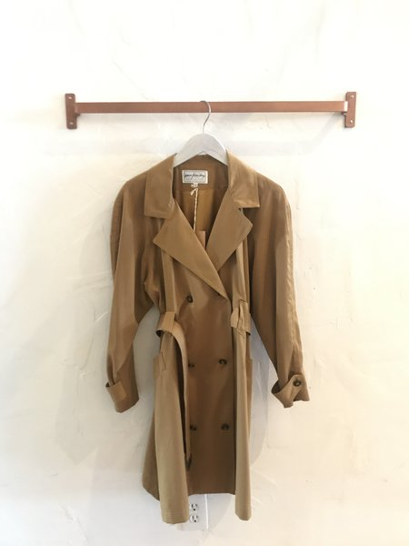 Vintage Gingerly Witty 90s Trench Coat - Camel