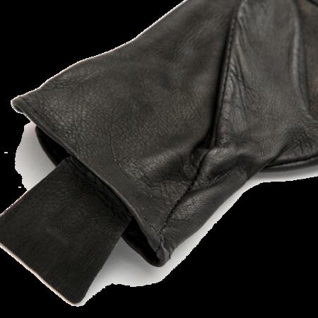 Unisex Geier Glove Medium Weight Deerskin Glove - Black