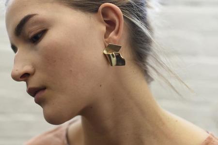 8.6.4 organic folded earrings - Brass