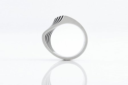 Orii Design WAVE LINES RING - STERLING SILVER