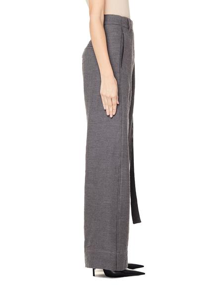 Ann Demeulemeester Wide Leg Wrap Trousers - Grey
