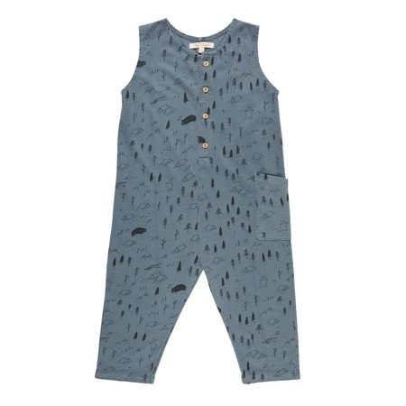 KIDS Red Caribou Terry Jumper - Blue Mirage