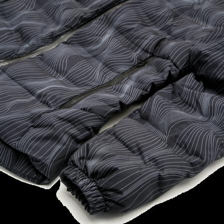Unisex Aigle Rigdown Short Parka - Black Print