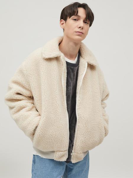 BRUMAN Harrington Boa Fleece Jacket - Ivory