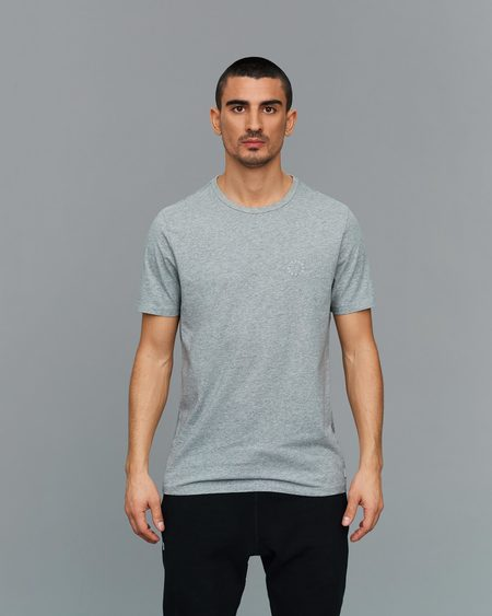 Eleven New York Embroidered T-Shirt - Gray