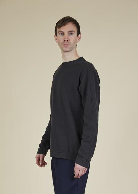 Labo.Art Jeff Pique Pullover - charcoal
