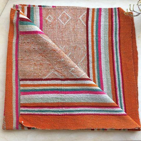 Loom Imports Frazada - Orange/Pink/Mint