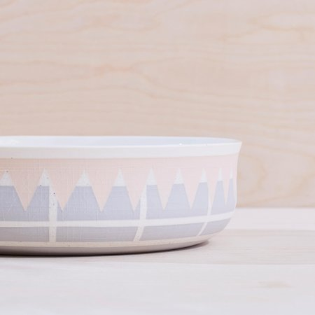 Andrew Moulleur XL Inlaid Bowl - Shell Gravel
