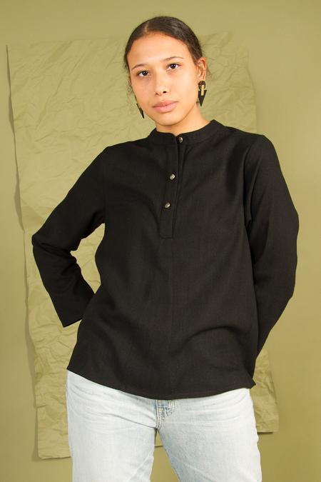 Bhoomki Amma Long Sleeve TOP - BLACK