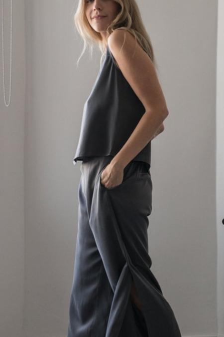 Lunya Washable Silk Pant Set - Eclipse