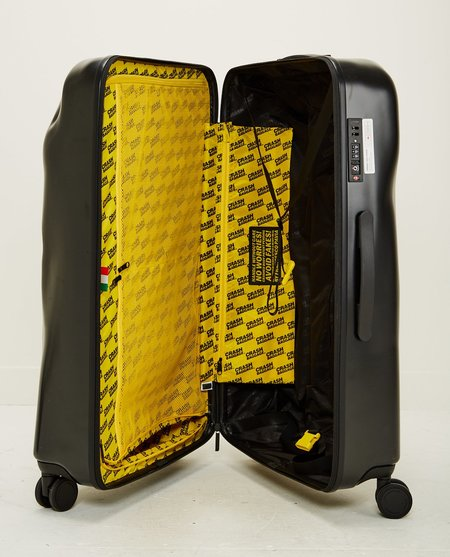 UNISEX CRASH BAGGAGE ICON LARGE 4 WHEELS LUGGAGE - BLACK