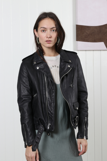 Schott NYC Vintaged Motorcycle Jacket - Black