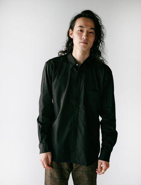 Comme des Garçons Homme Deux Cotton Broad Shirt - Black