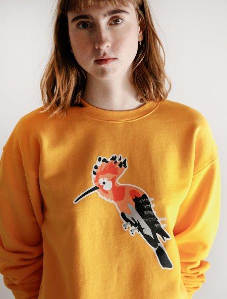 Neighbour Garment Dyed Pinchy Don Logo Crewneck Sweatshirt