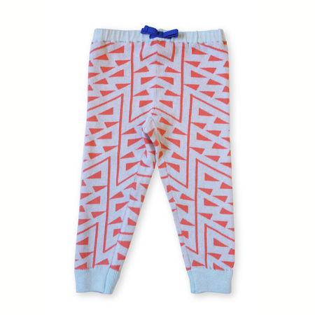 Micaela Greg Knitted Squiggle Pant - Tangerine