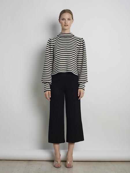 Eleven Six Mia Sweater - Ivory/Black Combo