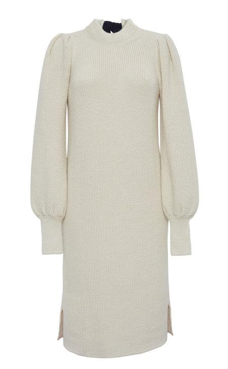 Eleven Six Clara Sweater Dress - Ivory W/ Black Tie