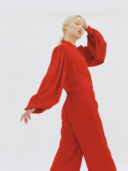 Hannah Kristina Metz Wessex Pant - Red