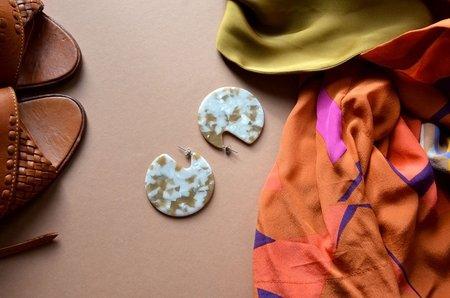 Machete CLARE Earrings - TERRAZZO SHELL