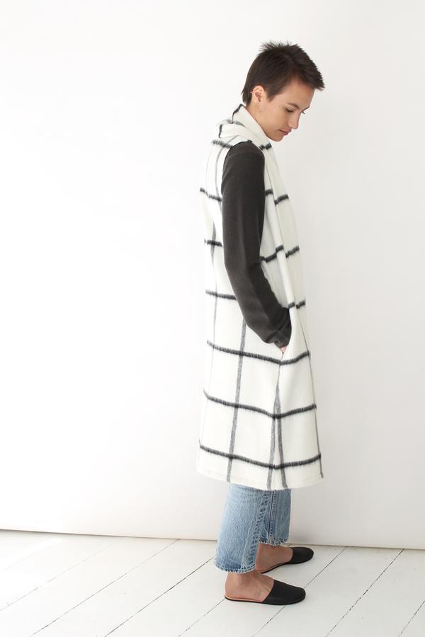 Atelier Delphine long vest coat | grid