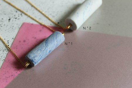 Atelier Cobalt CYLINDER NECKLACE