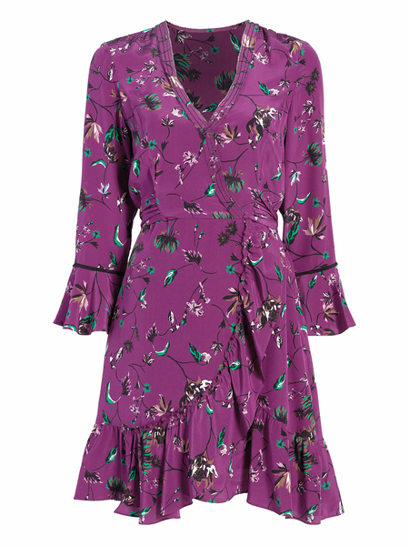 Tanya Taylor Vines Nomi Dress - Purple