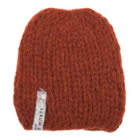 KIDS Album di Famiglia Baby Hand Knit Alpaca Calottina Hat - Rust