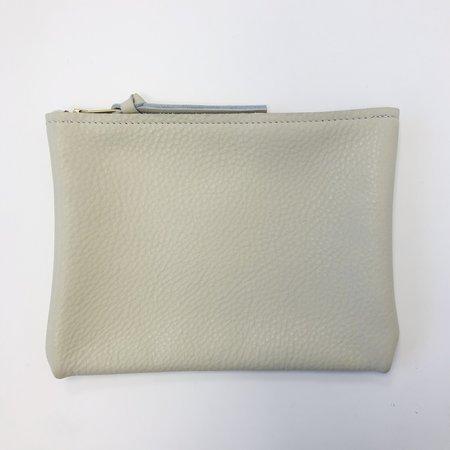 ARA Handbags Small Pebble Zip Clutch - Cream