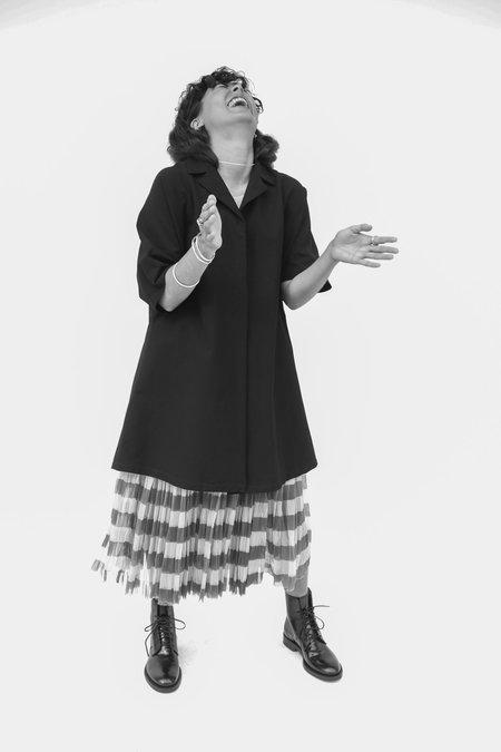 Sara Lanzi Short Sleeve Trench - Black