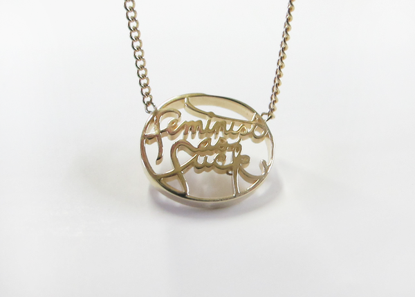 Leah Ball FEMINIST AS F*CK NECKLACE