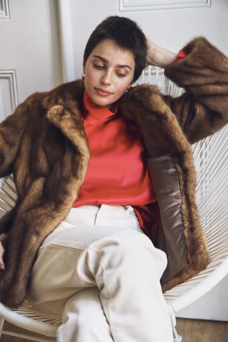Bird On A Wire Vintage Mink Fur coat - Brown