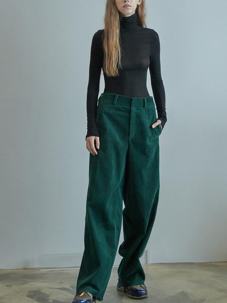 GREYYANG Corduroy Pants - Green
