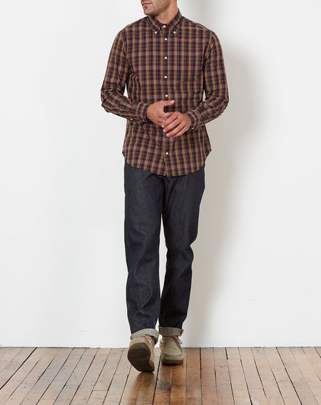 Gitman Vintage Button Down Shirt - Minersville Plaid
