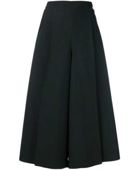 132 5. ISSEY MIYAKE Culotte With Buttons - black