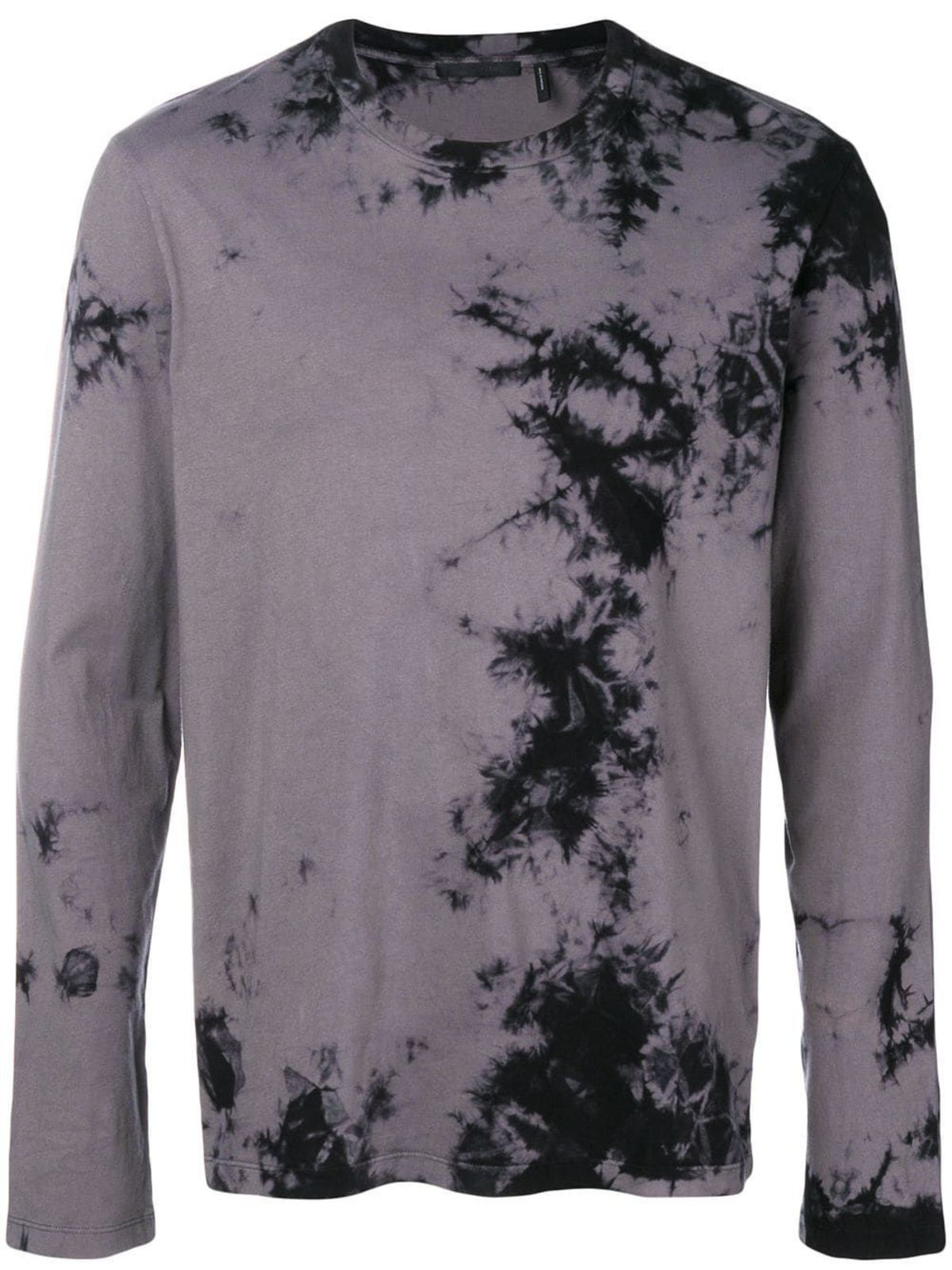 ea7b37f59e2f53 Helmut Lang Tie-Dye Dark Back Logo Long Sleeve T-Shirt - Grey Black ...