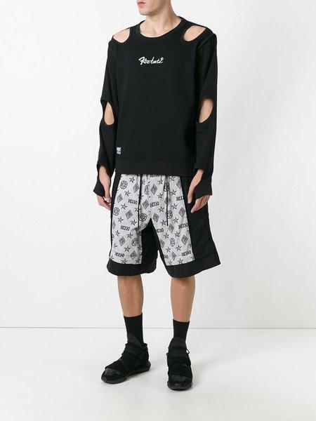 KTZ Embroidered Inside Out Hole Sweatshirt - Black