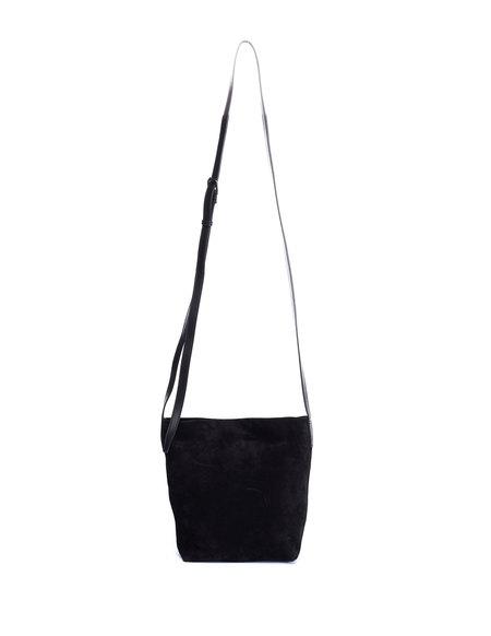 Ann Demeulemeester Suede Messenger Bag - Black