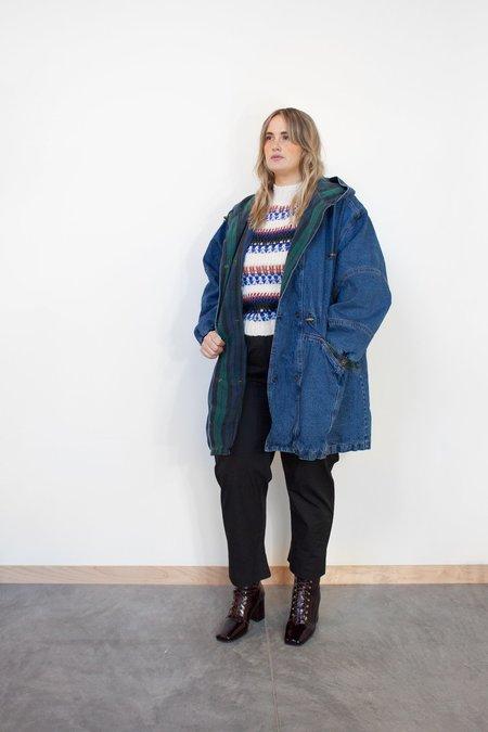 Hazel & Rose Vintage Flannel Lined Denim Coat